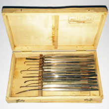 Twelve Moria Eye Surgery Insturments in Luer Box 1900