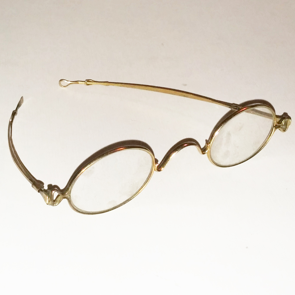 Gold Wire Glasses Frames : Gold wire frame glasses - Antique Collectible Vintage ...