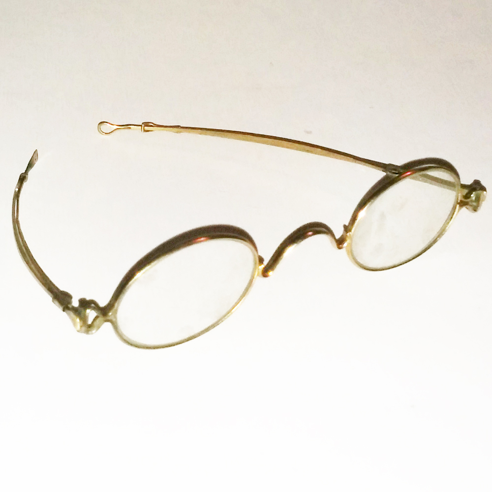 Gold wire frame glasses - Antique Collectible Vintage ...
